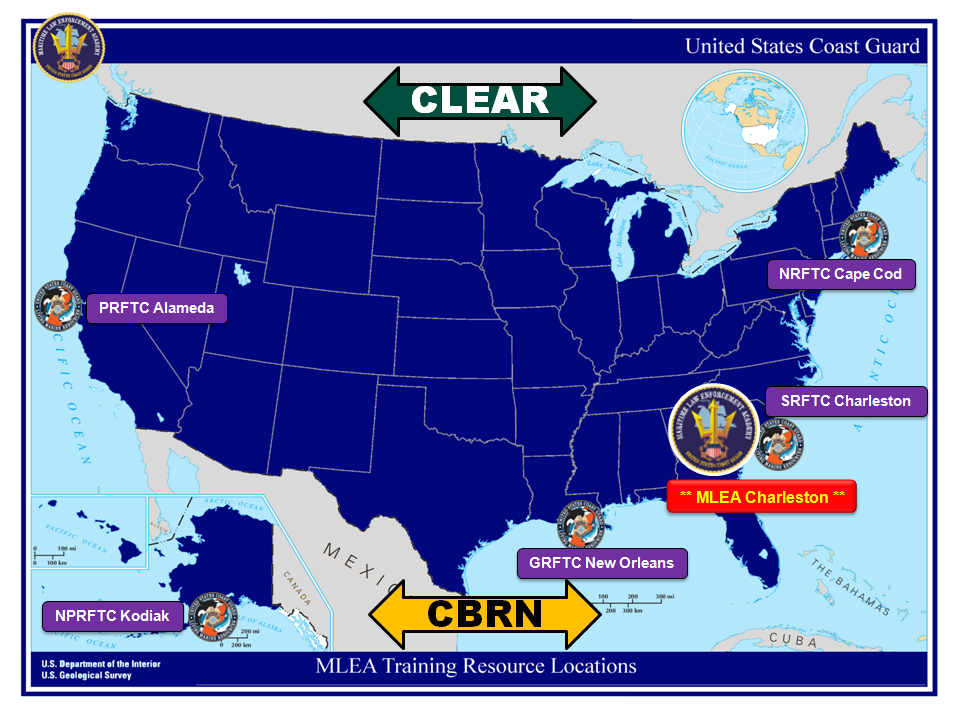 Maritime Law Enforcement Academy - Us coast guard bases map